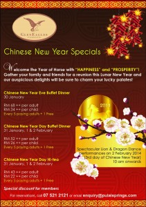 Chinese New Year Specials at Gleneagles Terrace Restaurant